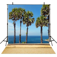 10x10ft Summer Photography Background Backdrops Custom Blue Sea Views Backdrops for Photo Booth Camera Fotografia