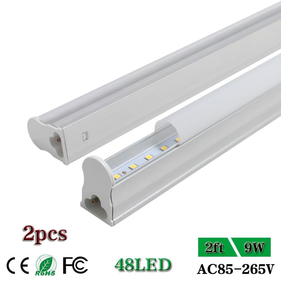 Us 1773 Cnsunway Zintegrowany 2ft Led Lights Tube T5 60 Cm 600mm Fluorescencyjne Lihgt Lampy ścienne Lampy Led żarówki Mleczną Pokrywą 9 W 25 Pack