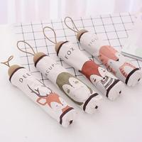 Creative Mini Cartoon Animal Pattern Umbrella Women Girl Sun Rain Sunscreen Anti UV Umbrellas Elegant Cute