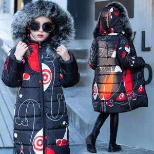 Image 3 - Liakhouskaya 2018 kinder Kleidung Winter Pelz Jacke Für Mädchen 12 jahre Alt Warme Mit Kapuze Dicke Baumwolle Gepolsterte Lange feste Mantel