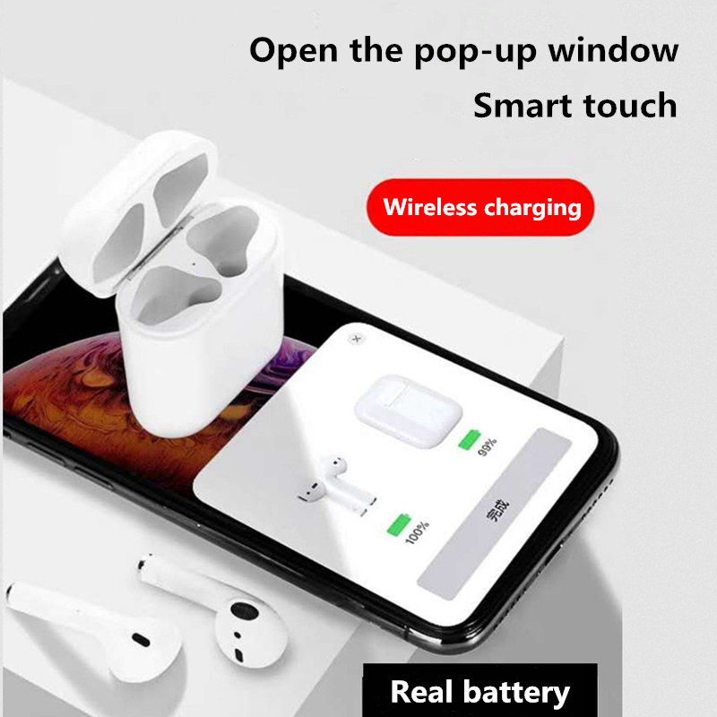 i30 tws pop-up window wireless Bluetooth 5.0 earphone 1:1 original binaural call Smart touch for iphone Android headset pk i20