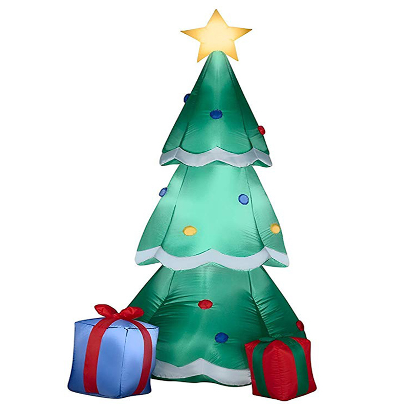 160cm Giant Inflatable Christmas Tree With Gift Boxes Led Lighted Toys Birthday Wedding Christmas Party Props Yard Home Deco