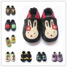Cute cartoon design cow leather baby shoes non-slip baby boy walking shoes baby girl crib shoes(China)