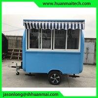 Мобильная пищевая киоск мобильный магазин трейлер еды телешка для закусочных