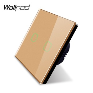Image 4 - Wallpad K3 Capacitive 2 Gang LED Touch Dimmer Switch 4 Colors Tempered Glass Panel Wall Electrical Light Double Switch for UK EU