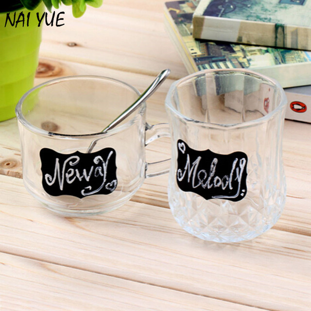 sticker labels for jars NAI YUE 36pcs/set Black Board Kitchen Jam Jar Label Labels Stickers 5*3.5cm Blank Chalkboard Sticker