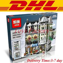 DHL Lepin 15008 2462 Unids Ciudad Calle Creador Verdulería Kits de Edificio Modelo Bloques Minifigure Ladrillos Compatibles 10185