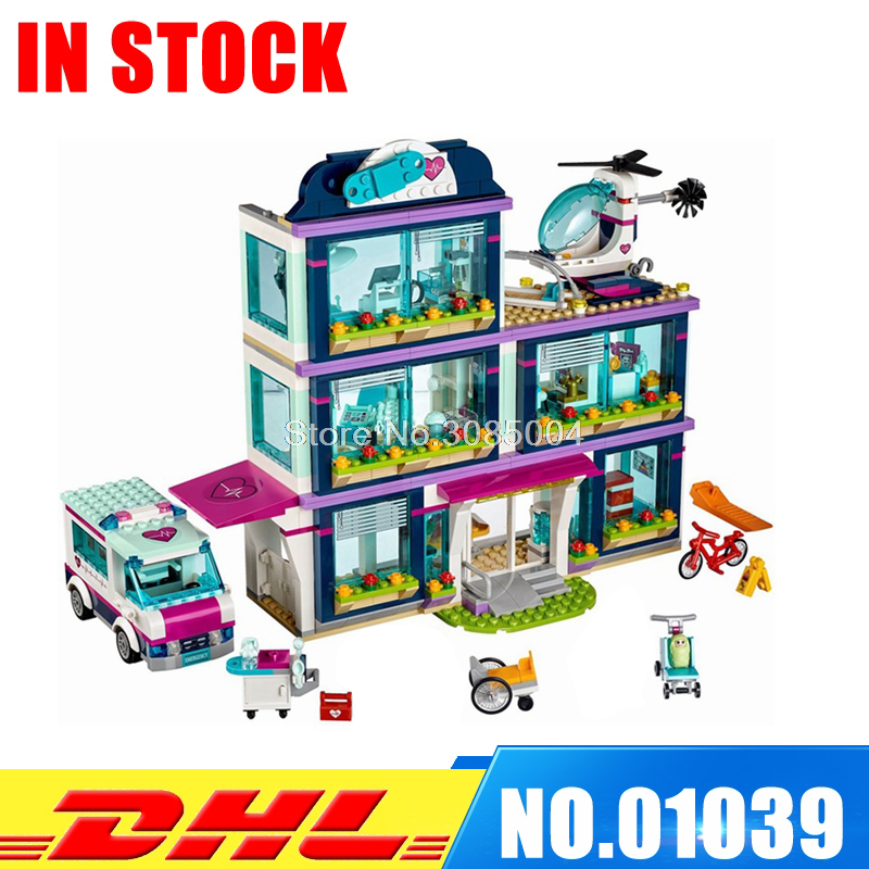 цена на Lepin 01039 932pcs Heartlake City Park Love Hospital Girl Friends Building Block Brick Toy Children Gifts Compatible 41318