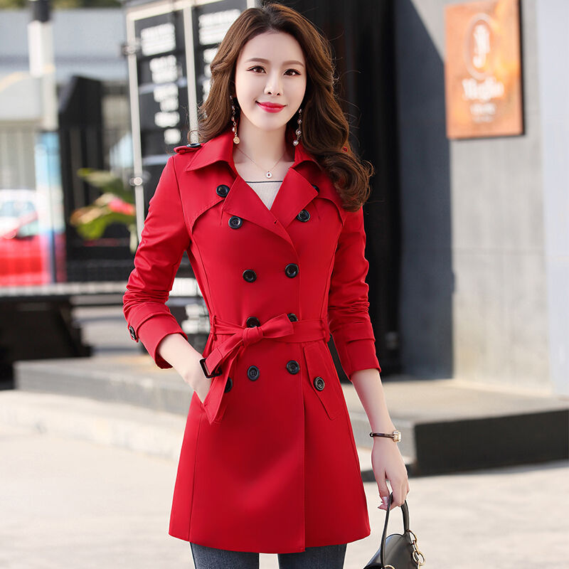 2019 Women Sexy Trench Double Breasted Long Belt Button Coat Big Size Vintage Casual Solid V-Neck Top Autumn Plush Overcoat