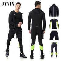 4PCS Men's Gym hombre Training Fitness Sportswear Workout Clothes Suits Running Jogging Mens Sports Clothing Tracksuit Dry Fit