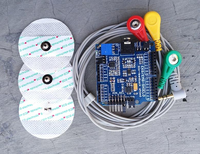 ECG-EMG-EKG-SHIELD Electromyographic ECG Card/Electromyographic electrocardiographic sensor ecg dongle