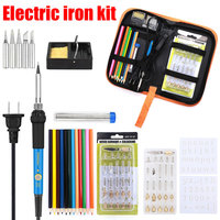 Pyrography Tool Electric Iron Kit High Temperature Adjustable Soldering Tool Plastic Handle Electric Iron Puller Tools