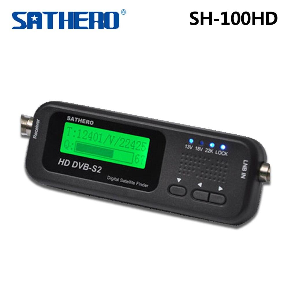 Original Sathero SH 100HD Pocket Digital Satellite Finder Meter HD LCD DVB S2 USB 2 0