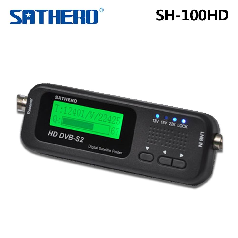 Original Sathero SH-100HD Pocket Digital Satellite Finder Meter HD LCD DVB S2 USB 2.0 Signal DVB-S2 DVB-S SH-100 Satfinder dvb s2 sathero sh 900hd satellite meter finder cctv in hd spectrum analyzer coaxial digital monitoring test function vs sh 910