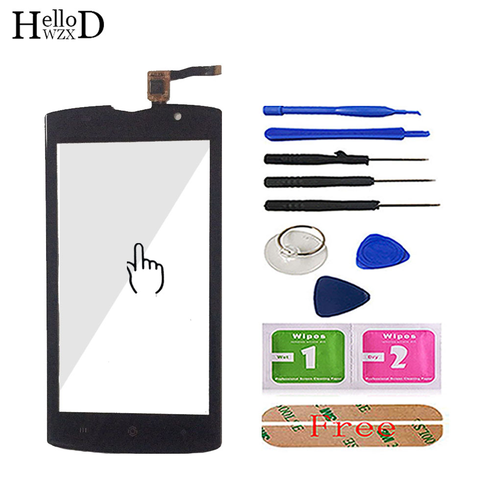 5.0'' Mobile Phone Touch Glass TouchScreen For Homtom Zoji Z7 Touch Screen Glass Digitizer Panel Lens Sensor Tools Free Adhesive