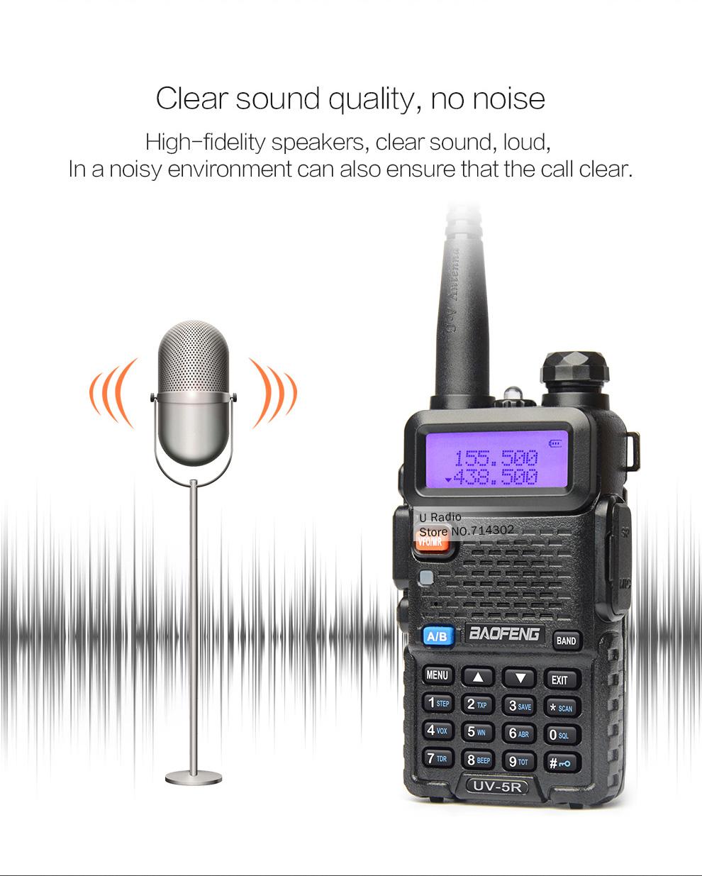 5x Baofeng UV-5R Two Way Radio 5R 128CH Dual Band VHF UHF