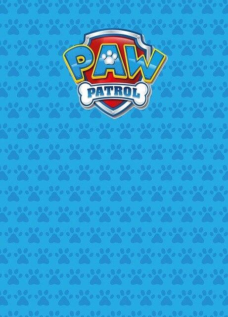 Vinyl Blue Paw Patrol Photo Background newborn children Photography Backdrops for photo studio