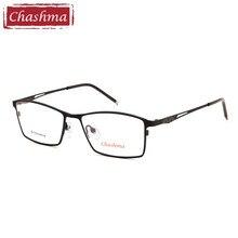 Chashma Brand Designer Eyewear Men Top Quality IP Plating Pure Titanium Full Frame Spectacles Light Eyeglasses Male