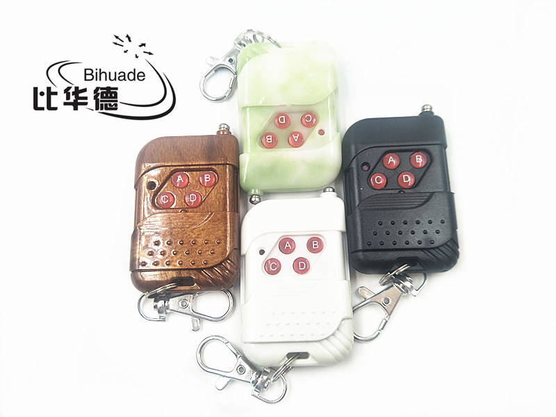 4 buttons 433mhz RF Remote Control Learning code 1527 For Gate garage door controller Light Switch 433mhz(Color random shipment)