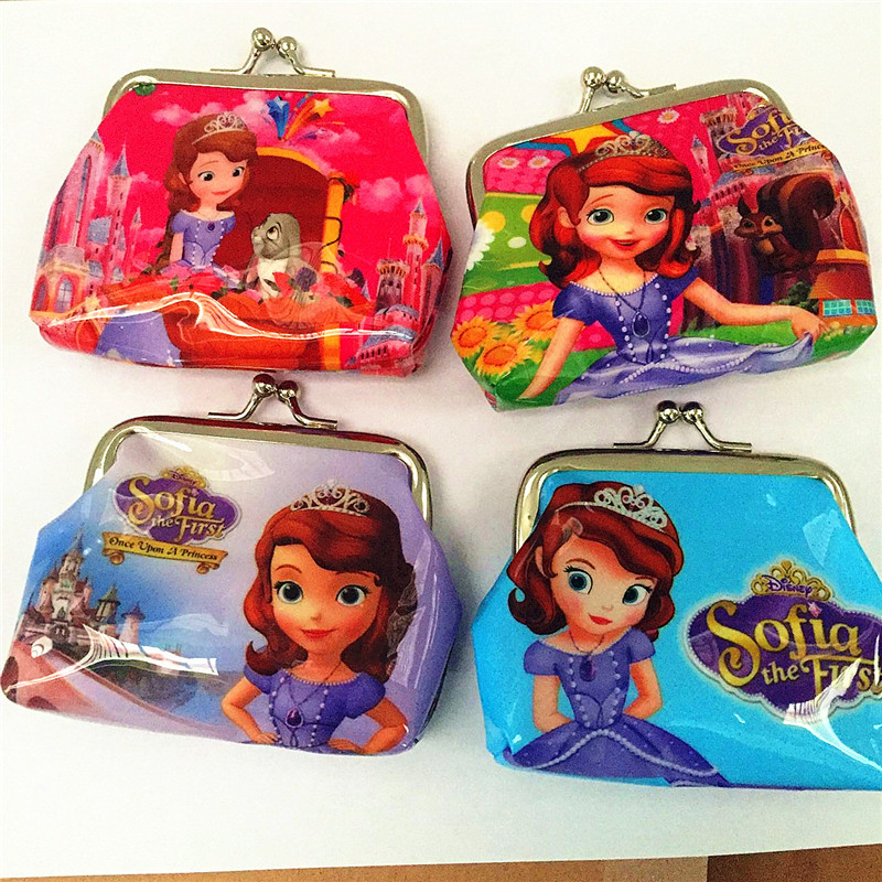 12pcs 9x9cm Princess Sofia Party Favor Kids Happy Birthday Supply Gift Baby Shower Souveir Return