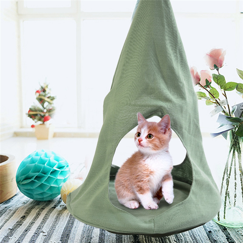 Cat Beds & Mats Cat Supplies Useful Hanging Living Bed Soft Comfortable Indoor Housesoft Bed Hanging Mat Soft And Comfortable Cat Hammock Kitten Cages