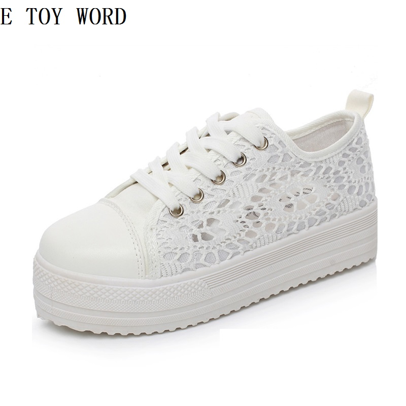 2018 Women Shoes Summer Fashion Casual Cutouts Lace Canvas Shoes Hollow Floral Breathable Platform Flat Shoes summer women shoes casual cutouts lace canvas shoes hollow floral breathable platform flat shoe sapato feminino lace sandals page 3