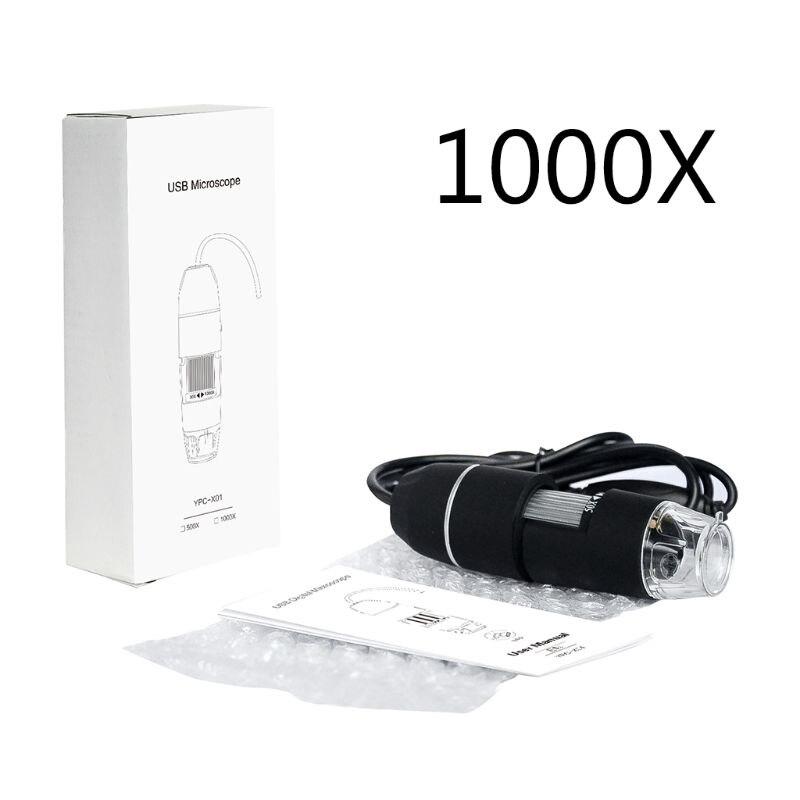 Microscope USB numérique 1000X tenu dans la main 8 Led pour les Microscopes de loupe de soudure de réparation de téléphone