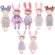 Metoo Dolls Angela Rabbit Plush Toy Baby Doll Sweet Cute Stuffed Animal Toys Doll juguete For Kids Girls Birthday/Christmas Gift(China)