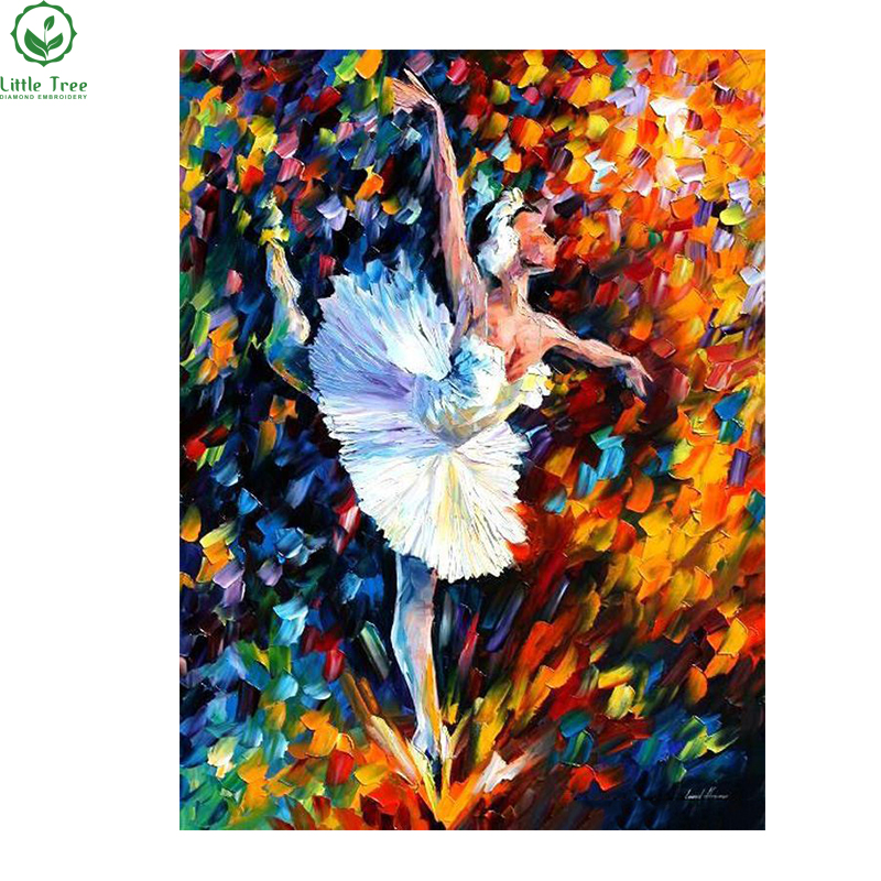 2016 DIY 5D Diamond Painting Cross Stitch Scroll Oil Painting Ballet Dancer Resin Craft Home Decor Colorfull Mosaic Art Picture