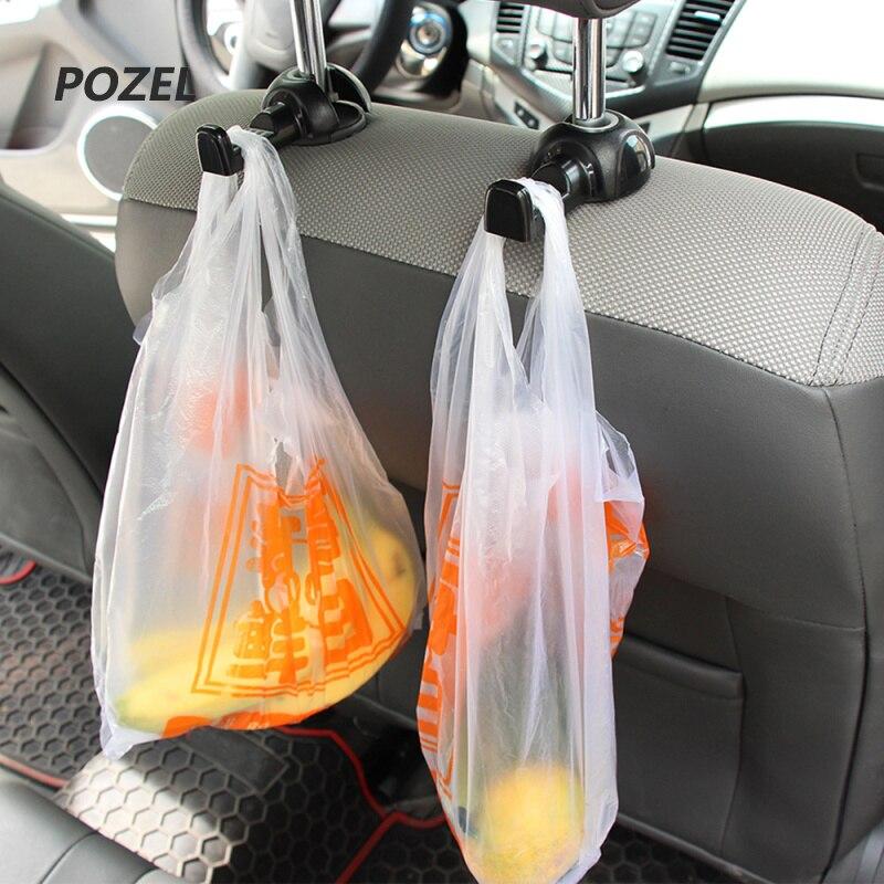 Car Back Seat Headrest Hanger Holder Hooks for Mitsubishi Grandis Outlander ASX RVR Pajero LancerEvo l200 l300 3000gt 3d 4m41