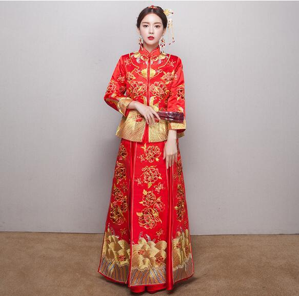 Buy chinese style wedding dress bride for Chinese style wedding dress