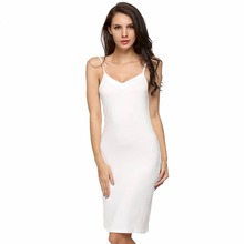 Summer Sleepwear Lady Women Full Slip Underdress Strap Modal Long Romantic Nightgown Sexy Night Gown Home Sleep Wear Clothes L15