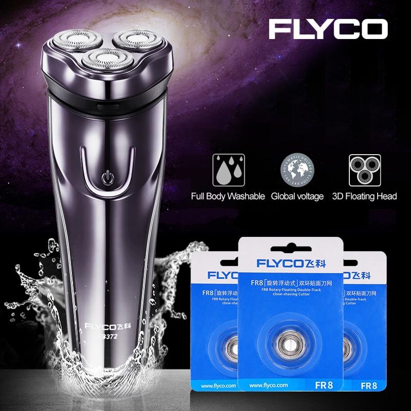 FLYCO Electric Shaver For Men Intelligent Shaving Machine Original Portable Trimmer Beard Washable Rechargeable