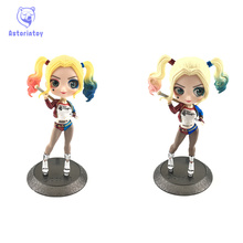 14cm Suicide Squad Harley Quinn Action Figure Toy Doll Q Posket Collection Model Brinquedos Figurals Gift