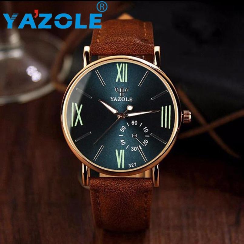 YAZOLE Rose Gold Wrist Watch Men Top Luxury Famous Male Clock Quartz Watch Golden Wristwatch Quartz Watch Relogio Masculino #A64