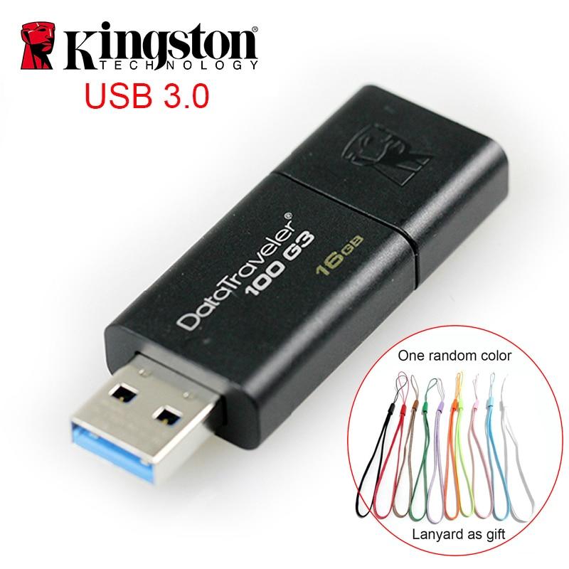 Kingston Cle Usb 32GB 64GB Pen Drive Memory Stick Memoria High Speed Clef Usb Stick Usb3.0 Pendrive U Disk Usb Flash 16gb