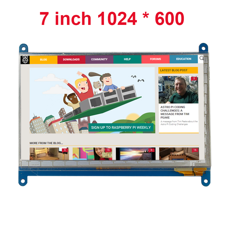 7 Inch Raspberry Pi 3 Touch Screen 1024 * 600 LCD Display HDMI Interface TFT Monitor Module Compatible Raspberry Pi 2 Model B raspberry pi 3 model b 7 inch lcd touch