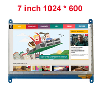 7 Inch Raspberry Pi 3 Touch Screen 1024 * 600 LCD Display HDMI Interface TFT Monitor Module Compatible Raspberry Pi 2 Model B