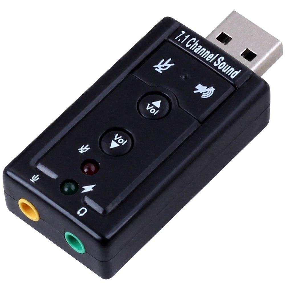 Carte son externe USB 7.1 2.0 canaux avec Interface prise casque et Microphone 3.5mm, convertisseur adaptateur micro USB 2.0 vers stéréo