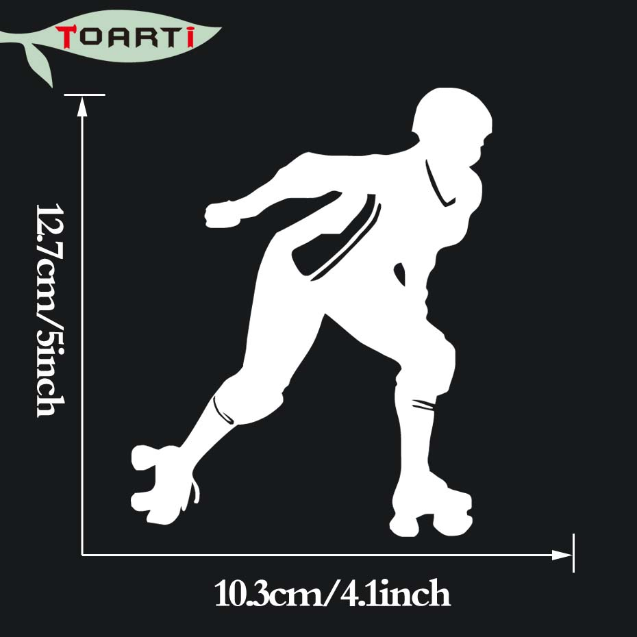 Roller Derby Girl Vinyl Decal Car Sticker For Truck Window Bumper Decor Removable Waterproof Car Styling Accessories