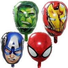 4 шт./лот герои компьютерной игры Avengers Alliance Фольга воздушные шары на день рождения вечерние украшения Капитан Америка тема шар классические детские игрушки