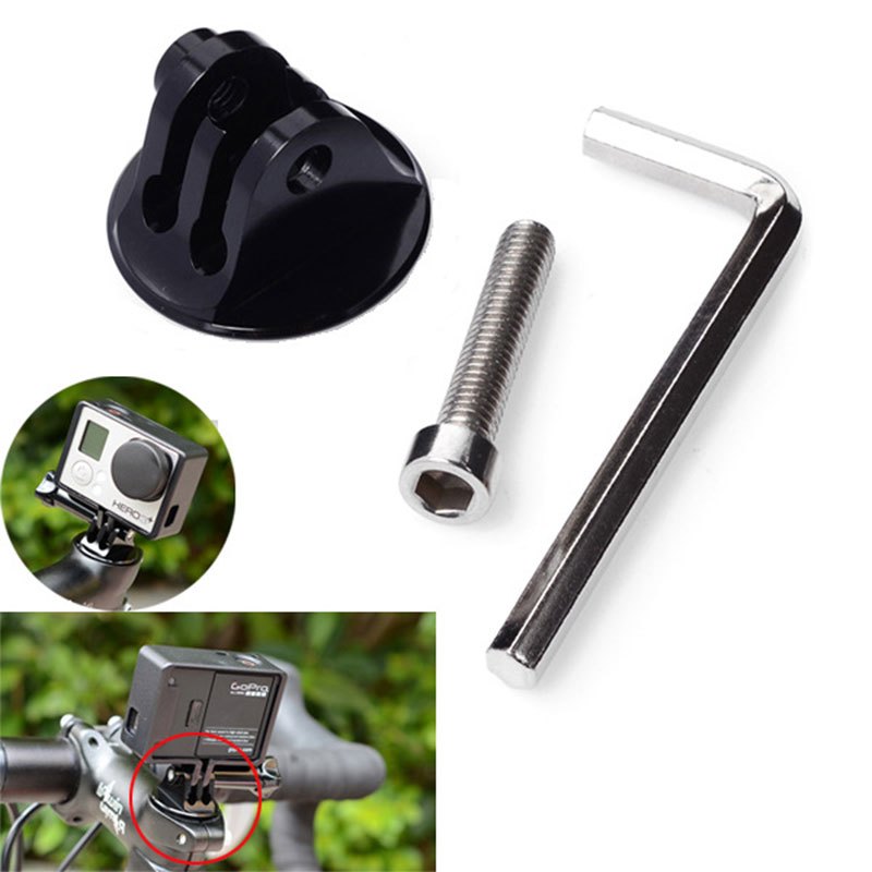 Gopro Accessories Alloy Bike Bicycle Headset Top Cap Mount Adapter With Screw For Go pro Hero 3 3+ 4 SJ4000 Xiaomi YI 4k Camera