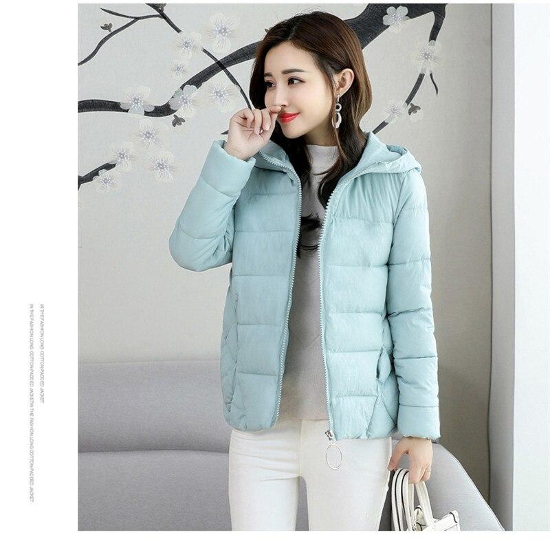 2018 Slim Now Winter Autumn Style Temperament Fashion Cotton Wear Coat Student Jacket Women Parka Large Size Women Eight Colors