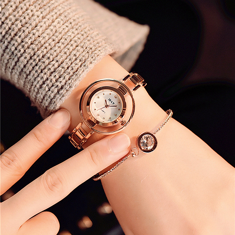 Relojes mujer 2017 Stainless steel Wristwatch Bracelet Quartz watch Woman Ladies Watches Clock Female Dress Relogio Feminino julius quartz watch ladies bracelet watches relogio feminino erkek kol saati dress stainless steel alloy silver black blue pink