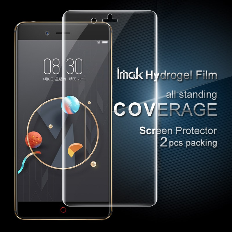 IMAK for ZTE Nubia Z17 Mini Film 2 Pcs Packing Full Screen Complete Covering Soft Hydrogel Protector Film for ZTE Nubia Z17 Mini