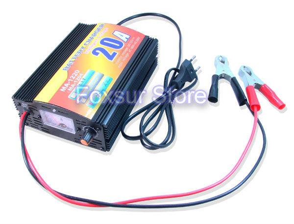 12 V 20A cargador de Batería de Plomo Ácido con indicador de corriente de carga, inteligente de $ number etapas