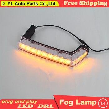 Car Styling Daytime Running Lights for Jeep Wrangler  LED DRL 2008-2015 Wrangler LED Fog Light Front Lamp Automobile Accessories