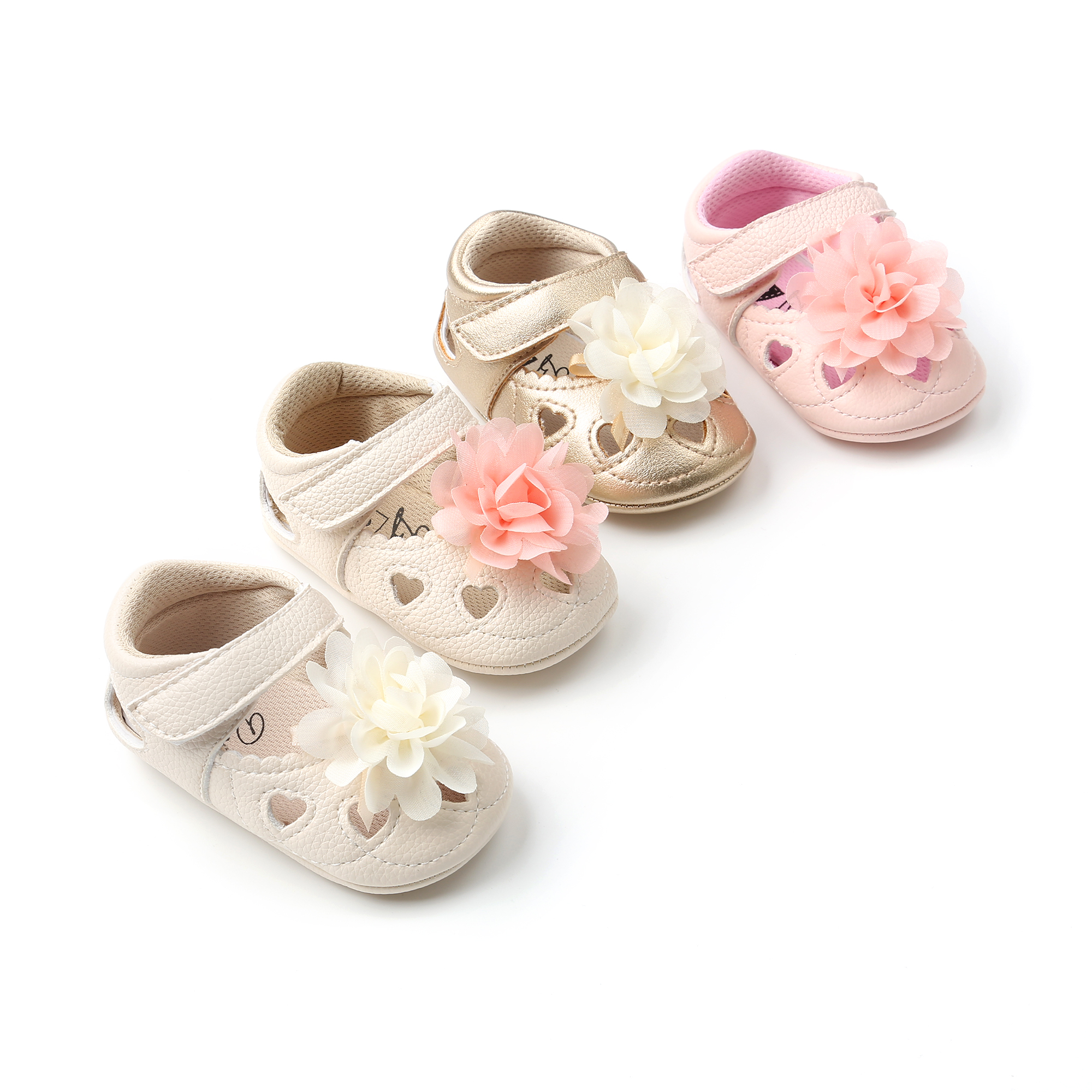 ROMIRUS 2018 New Summer Style Baby Girls First Walkers Cute Lace Flower Infant Girls Princess Shoes toddler shoes