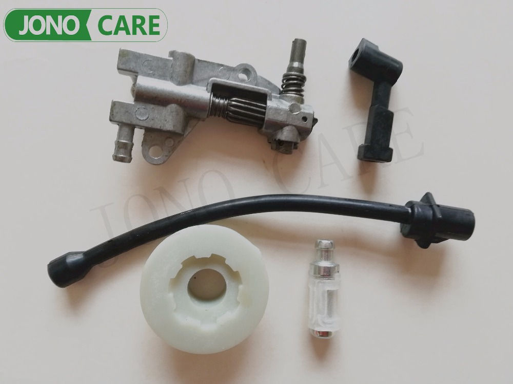 Oil Pump Filter Pipe Hose Line worm driver Kit For Chinese 45CC 52CC 58CC 4500 5200 5800 Chainsaw Spare Parts oil drive pump worm chinese chainsaw 4500 5200 5800 45cc 52cc 58cc