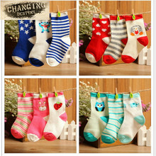 3 Pairs Lot Baby Socks Cartoon Jacquard Baby Hose Pure Cotton Children s Hosiery Breathable Antibacterial